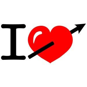 Cool i heart love arrow design