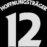 "Rückennummer 12 ""Hoffnungsträger"", weiß"