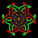 Double Biohazard Logo