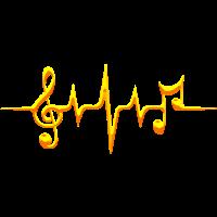 Musik Noten, Puls, Frequenz, Notenschlüssel, Note