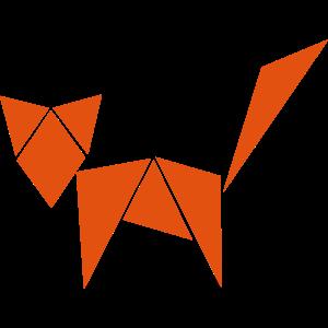 Fuchs aus geometrischen Figuren