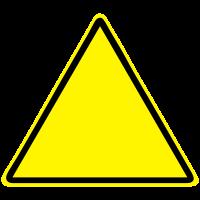 Warnschild Blanko