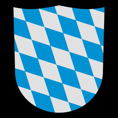 Bayern, Wappen - Wappen mit  typischem Rautenmuster der bayerischen Fahne.  Motiv passend zum Volksfest, Oktoberfest, etc. und für alle die Bayern mögen, dort leben bzw. für Freunde des bayrischen Dialekts. - wappen,schild,rautenmuster,raute,oktoberfest,münchen,logo,flagge,fahne,bayrisch,bayern,bayerisch