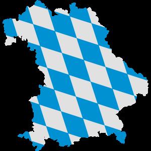 Landkarte von Bayern, Design der bayerischen Fahne
