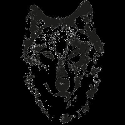 Wolf - Wolfskopf als Motiv mit transparentem Hintergrund. Auflösung 400 dpi, gut skalierbar. Nicht nur ideal für Textilien sondern auch auf Tassen und Co. - Wölfe,Wolve,Wolfsburg,Wolfpack,Wolf,Grauer Wolf