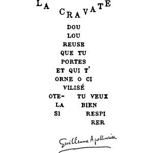 Calligramme Cravate