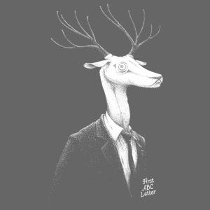 White Deer dressed in Black