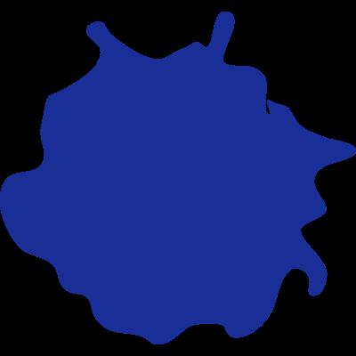 klecks - Der einzelne Klecks aus dem Tintenklecks e.V. logo, Farbe kann individuell eingestellt werden. - einzel,Tintenklecks,Konstanz,Klecks
