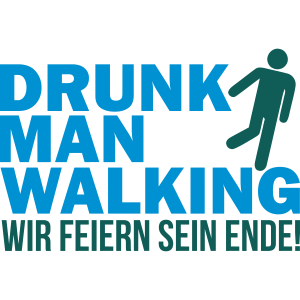 Drunk man walking