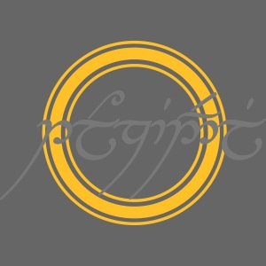 Tolkiendil en tengwar (écusson & dos)