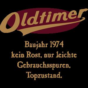 Oldtimer Baujahr 1974 RAHMENLOS®