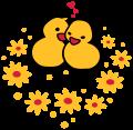 Motif Poussins amoureux
