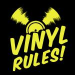 vinyl rules - Schallplatte - Tonträger-Musik-Retro
