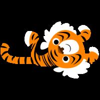 Niedlicher fauler Tiger von Cheerful Madness!!