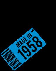 Jahrgang 1950 Geburtstagsshirt: Geburtstag T-Shirt 1958