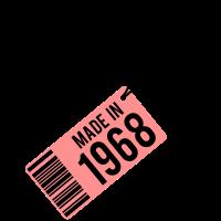 Geburtstag T-Shirt 1968