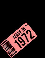 Jahrgang 1970 Geburtstagsshirt: Geburtstag T-Shirt 1972