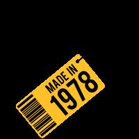 Geburtstag T-Shirt 1978