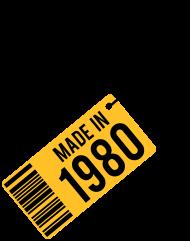 Jahrgang 1980 Geburtstagsshirt: Geburtstag T-Shirt 1980