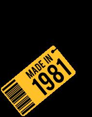 Jahrgang 1980 Geburtstagsshirt: Geburtstag T-Shirt 1981