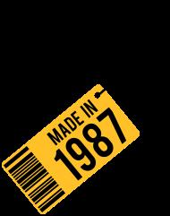 Jahrgang 1980 Geburtstagsshirt: Geburtstag T-Shirt 1987