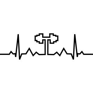 Herzschlag-Hantel, Bodybuilding, Crossfit, Fitness
