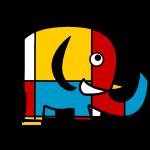 Mondrian Elephant