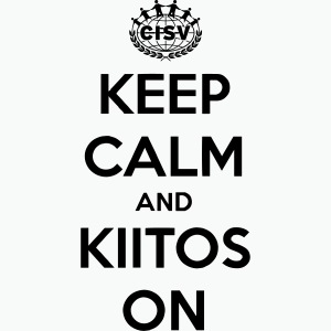 keep calm and kiitos on