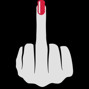 Frauen Mittelfinger Nagellack