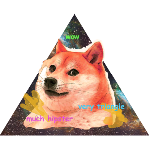 much hipster, very triangle