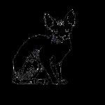 sphynx silhouette nero full body con mio logo.png