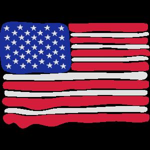 American Flag 3 colours paint