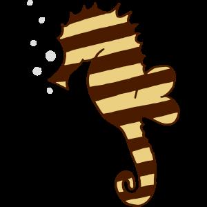 gestreiftes Seepferdchen