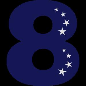 8. Geburtstag Acht