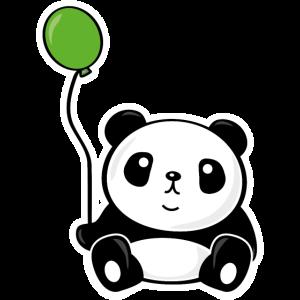 Panda mit Luftballon