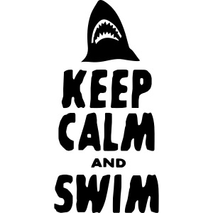 keep calm a swim