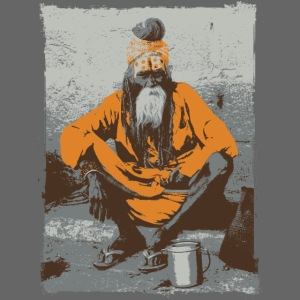 Indian holy man - Sadhu or Sādhu - orange