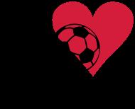 Fan-Shirt: I love soccer - Fußball