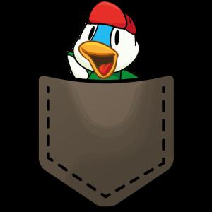 Duck in a pocket