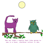 Purple Cat and the Owl
