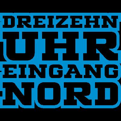 13 Uhr Eingang Nord - Dritte,Blau,Liga,Ruhrpott,MSV,Weiß,Wedaustadion,Fußball,Duisburg - Weiß,Wedaustadion,Ruhrpott,MSV,Liga,Fußball,Duisburg,Dritte,Blau