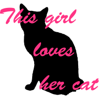 Girl loves cat