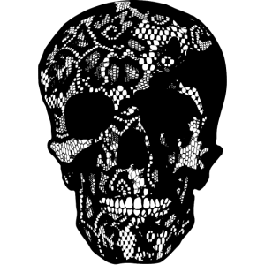 Skull coverd with Lace - filled