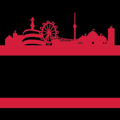 STGT - Sehr einfaches, einprägsames Motiv der schönen Stadt Stuttgart inklusive Skyline! Zeig das du ein waschechter Stuttgarter bist und präsentiere deine Stadt!  STGT 0711 EIN LEBEN LANG! - stuttgart,stoerfucktor,stadt,schlossplatz,fußball,Wasen,Volksfest,STGT,Cannstatt,0711