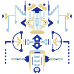 Digitaldrawn Figuur Totem