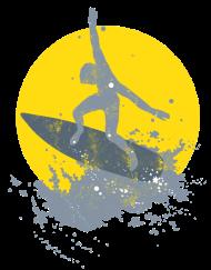 Neue Motive und Topseller: Surfer grunged mit Sonne