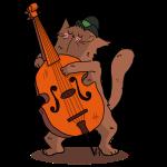 Mrou le chat, jazz et contrebasse