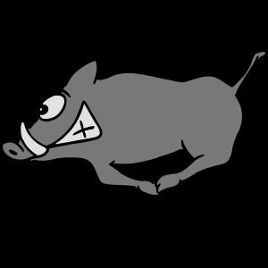 rennendes Wildschwein 'sau wild'