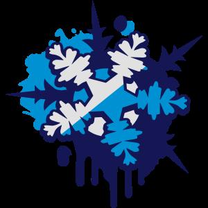 Schnee Kristall Graffiti