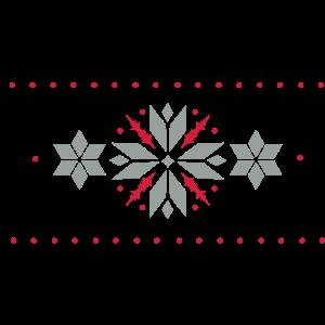 Stern Muster im Norweger Stil